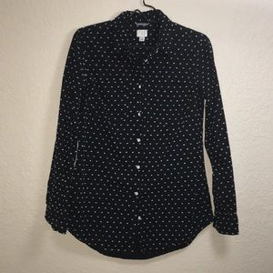 A New Day Black and White Button Front Shirt